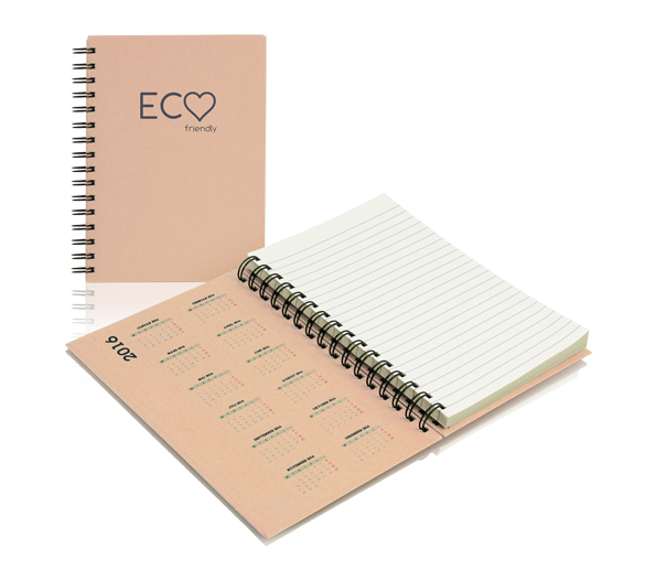 PM300_A5-ECO Wire-o anteckningsblock i hårdomslag ECO