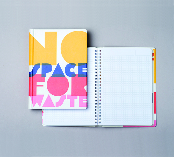 PM301 Wire-o notepad in hardcover