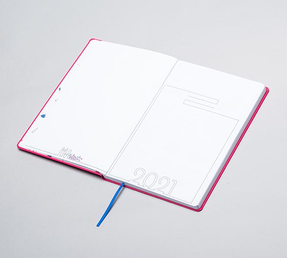 MN35-CAL-ROMA Mindnotes® dagböcke i flexi hårdomslag av ROMA
